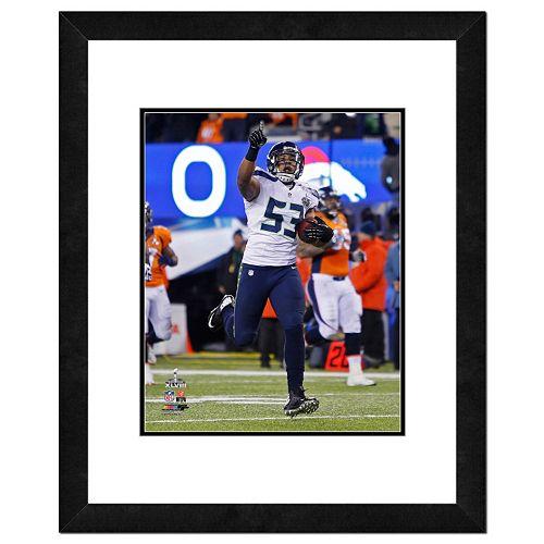 Seattle Seahawks Malcom Smith Super Bowl XLVIII Framed 14 x 11 Player Photo
