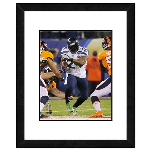 Seattle Seahawks Marshawn Lynch Super Bowl XLVIII Framed 14