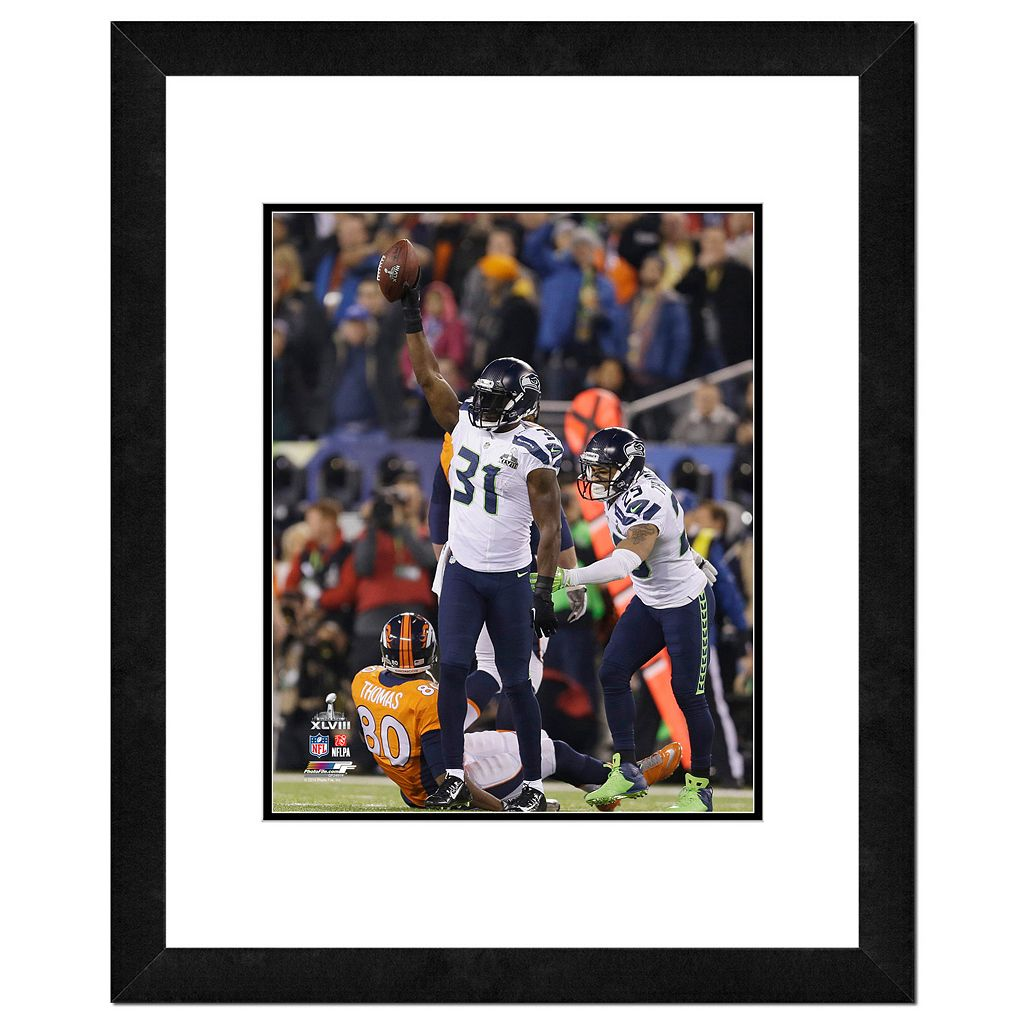 Seattle Seahawks Kam Chancellor Super Bowl XLVIII Framed 14
