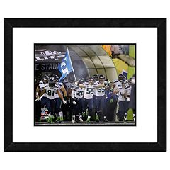 Seattle Seahawks Super Bowl XLVIII Run Onto the Field Framed 11' x 14' Photo