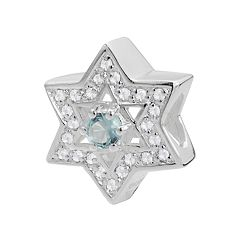 Individuality Beads Sterling Silver Cubic Zirconia Star of David Bead