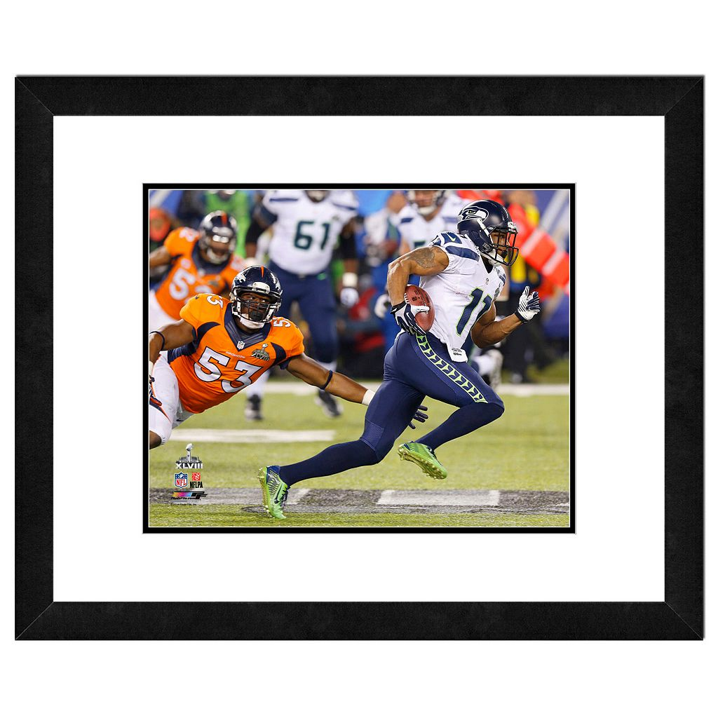 Seattle Seahawks Percy Harvin Super Bowl XLVIII Framed 11