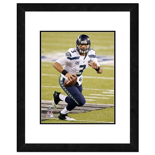 Seattle Seahawks Russell Wilson Super Bowl XLVIII Framed 14