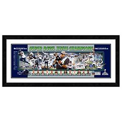Seattle Seahawks Super Bowl XLVIII Champions Framed 12' x 36' Panoramic Photo