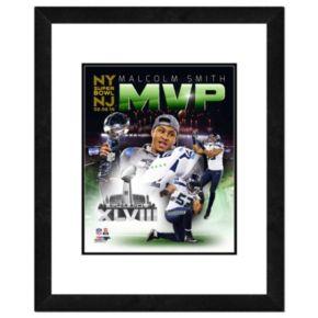 "Seattle Seahawks Malcom Smith Super Bowl XLVIII MVP Composite Framed 14"" x 11"" Player Photo"