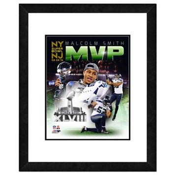 Seattle Seahawks Malcom Smith Super Bowl XLVIII MVP Composite Framed 14