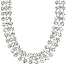 Napier 3-Tier Crystal Choker Necklace