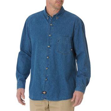 Men's Dickies Denim Button-Down Work Shirt