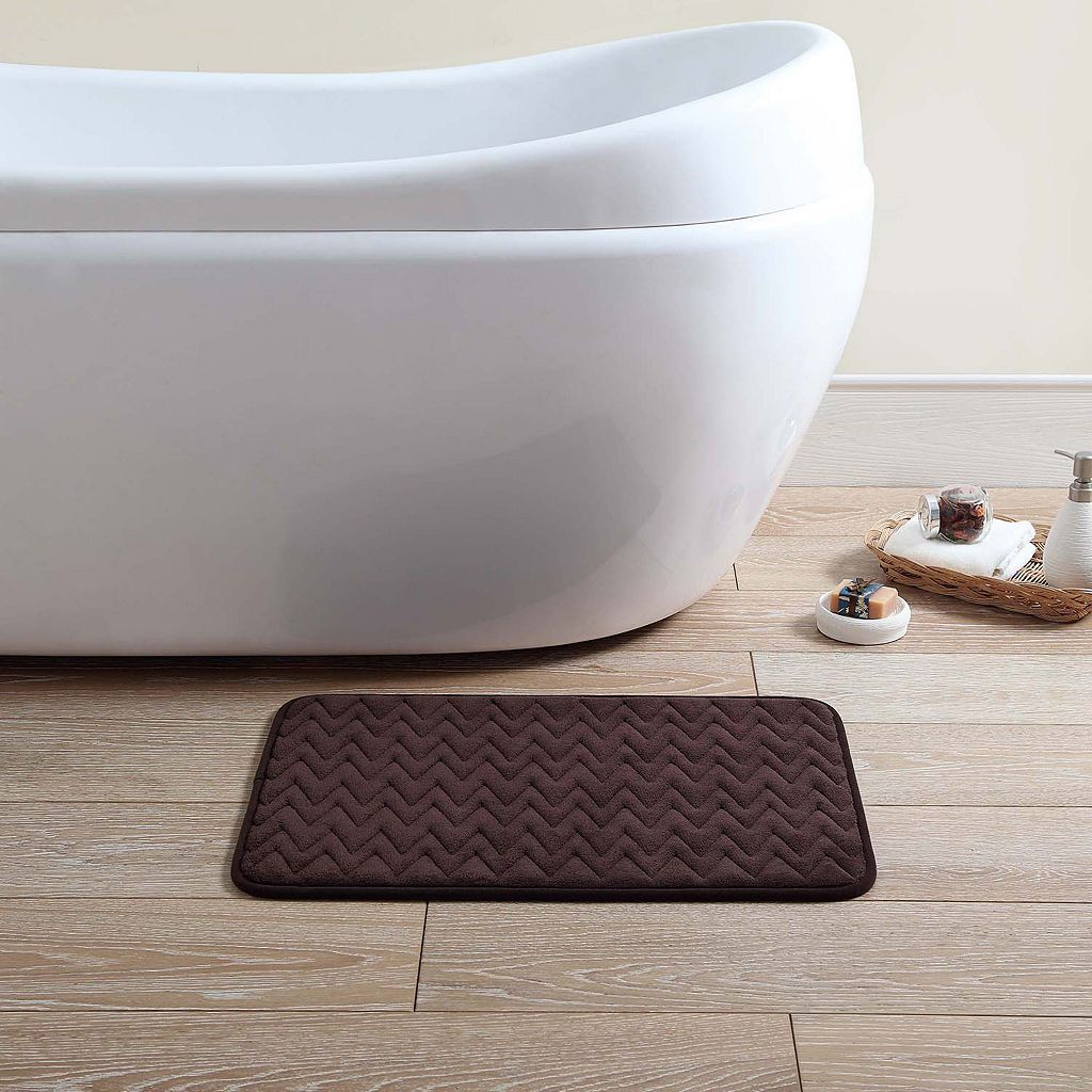 VCNY Zigzag 2-pk. Memory Foam Bath Rugs