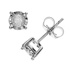10k White Gold 1/3 ctT.W. Diamond Stud Earrings