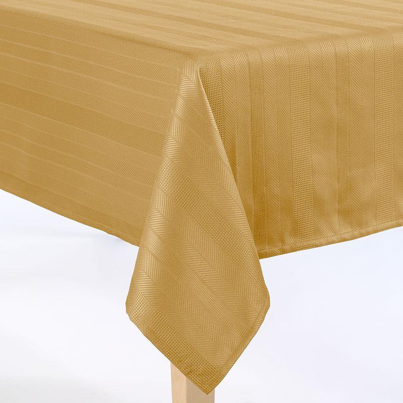 Food Network™ Hamilton Stripe Microfiber Tablecloth - 60'' x 84'' Oblong