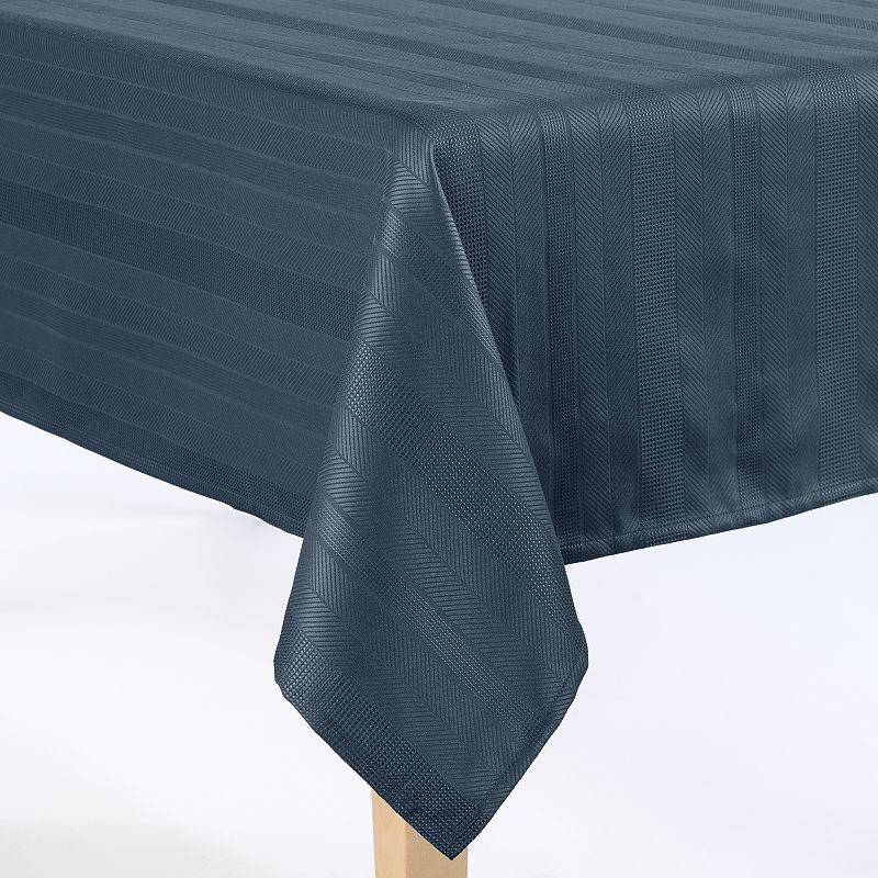 Food Network™ Hamilton Stripe Microfiber Tablecloth - 70'' Round