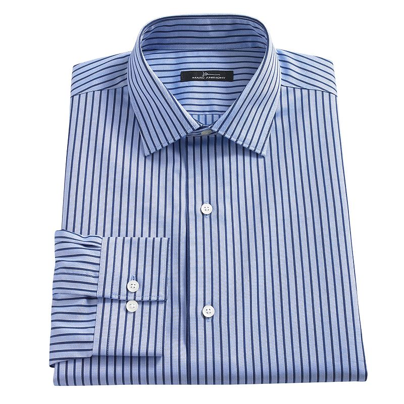 Cotton striped dress shirt kohl 39 s for Tony collar dress shirt