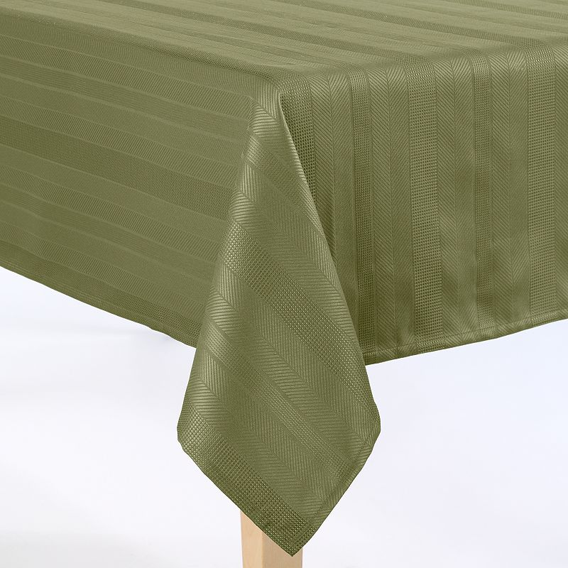 Food Network™ Hamilton Stripe Microfiber Tablecloth - 60'' x 120'' Oblong