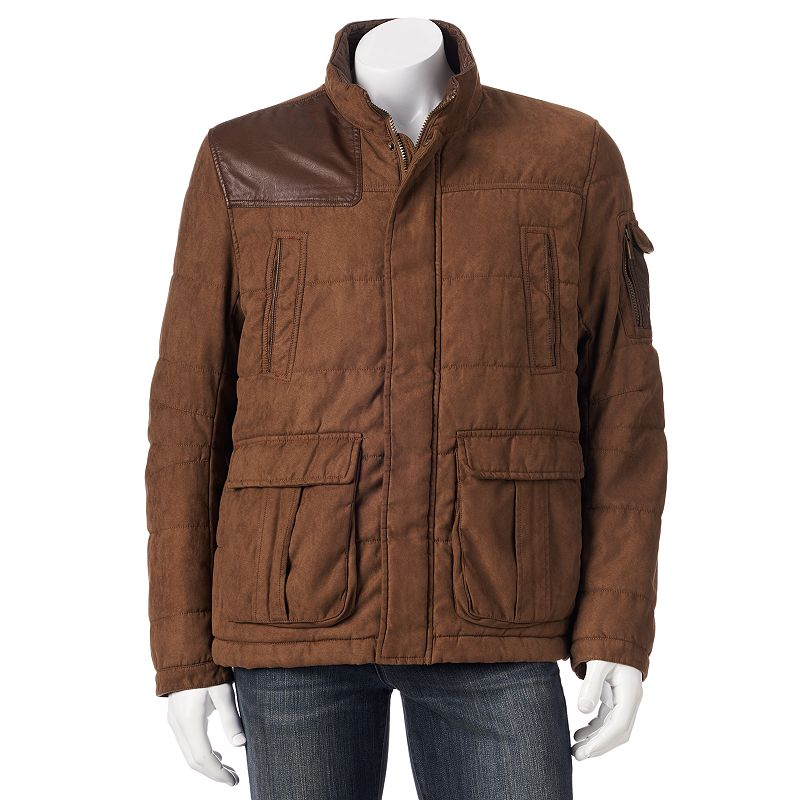 Big & Tall Chaps Faux-Suede Bomber Jacket