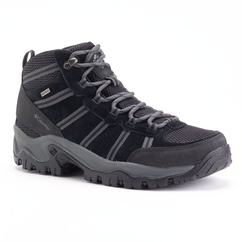 Columbia Black Grants Pass Waterproof Mens Hiking Boots