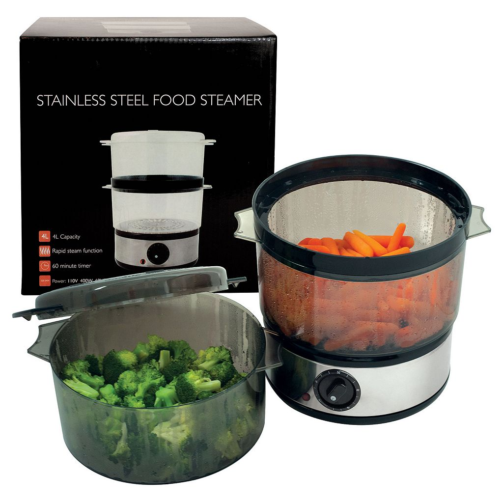 Chef Buddy 4-qt. Stainless Steel Food Steamer