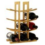 Oceanstar 12-Bottle Bamboo Wine Rack