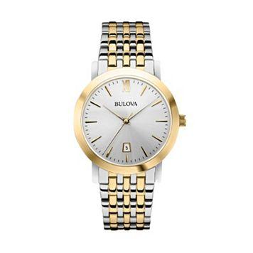 Bulova Men's Two Tone Stainless Steel Watch - 98B221