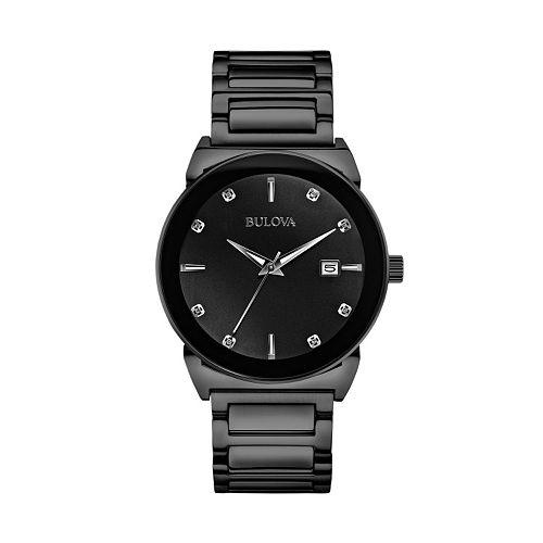Bulova Men's Diamond Stainless Steel Watch - 98D121