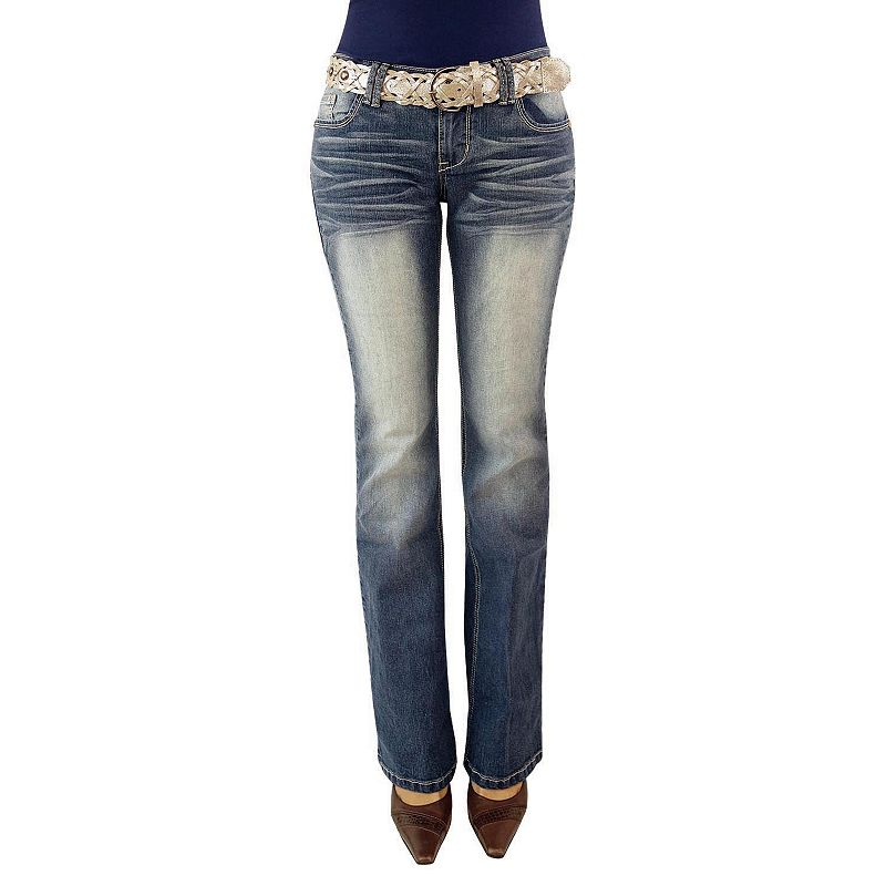Angels Faded Bootcut Jeans - Juniors