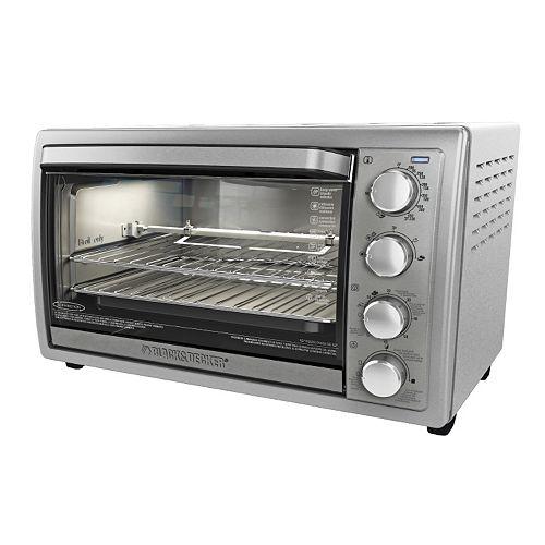 Black Amp Decker Rotisserie Convection Toaster Oven
