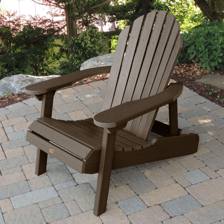 Highwood Hamilton Folding And Reclining Adirondack Chair   Adult
