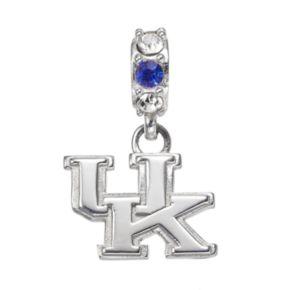 Dayna U Sterling Silver Kentucky Wildcats Crystal Logo Charm
