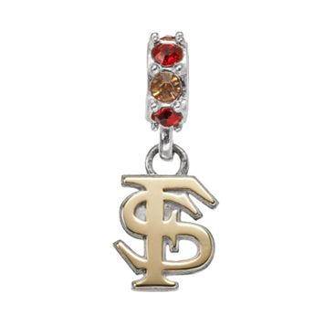 Dayna U Sterling Silver Florida State Seminoles Crystal Logo Charm