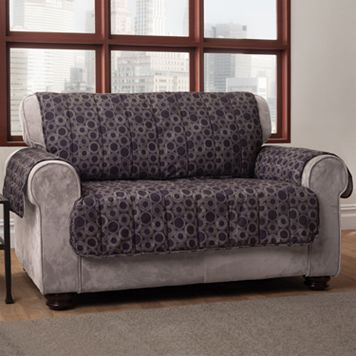 Innovative Textile Solutions Circles Microfiber Loveseat Protector