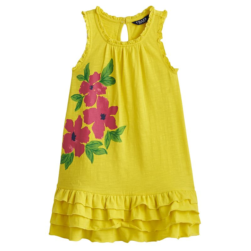 Chaps Floral Dress - Toddler