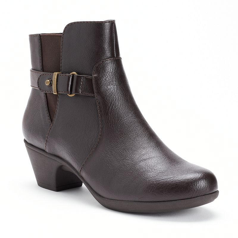 Croft & Barrow Brown Womens Ankle Boots