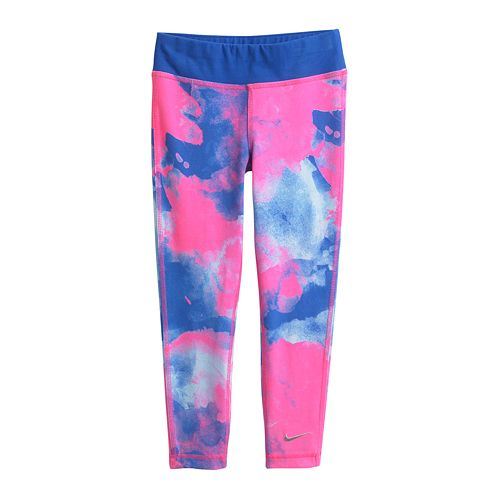 best shoes outlet factory outlets Nike Tie-Dyed Leggings - Girls 4-6x