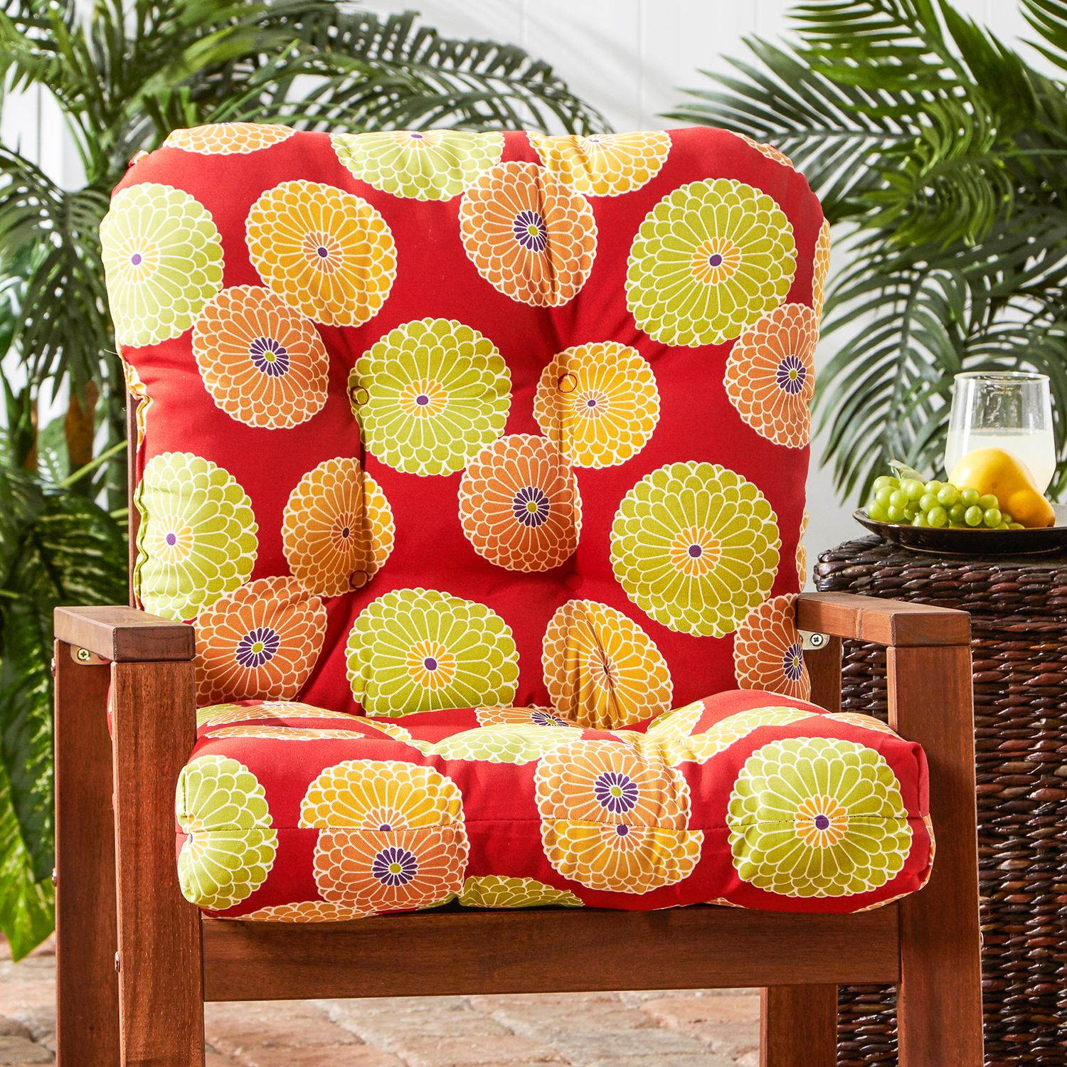 Greendale Home Fashions Seat U0026 Back Outdoor Chair Cushion   Tall