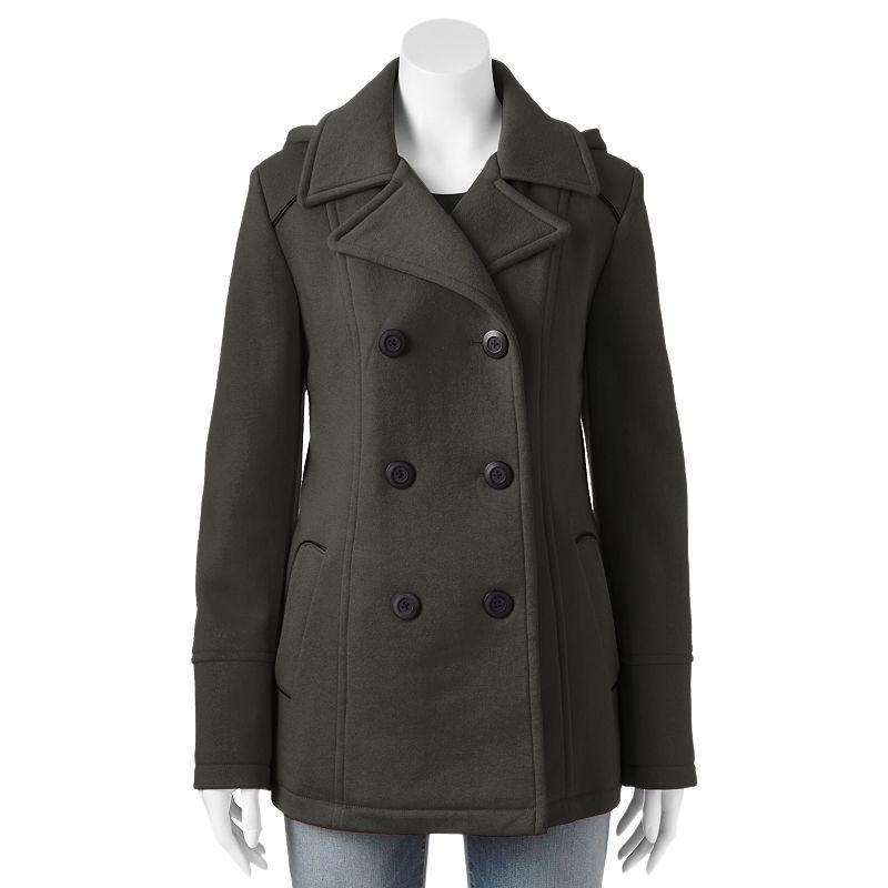 Apt. 9® Hooded Fleece Peacoat - Women's