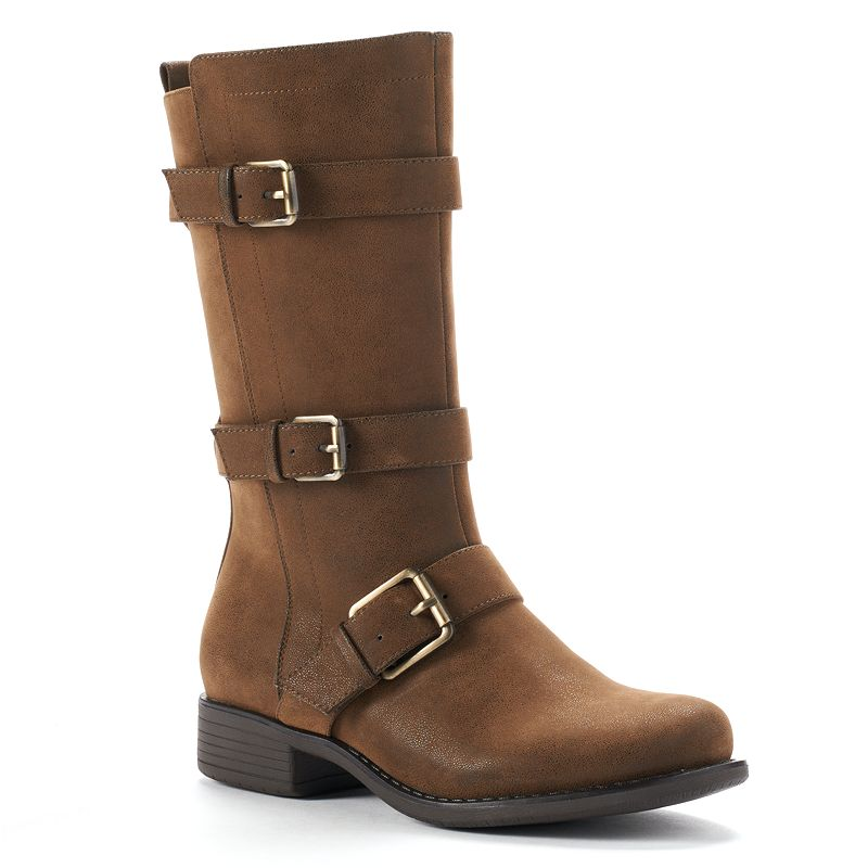 SONOMA life + style® Women's Midcalf Buckle Boots