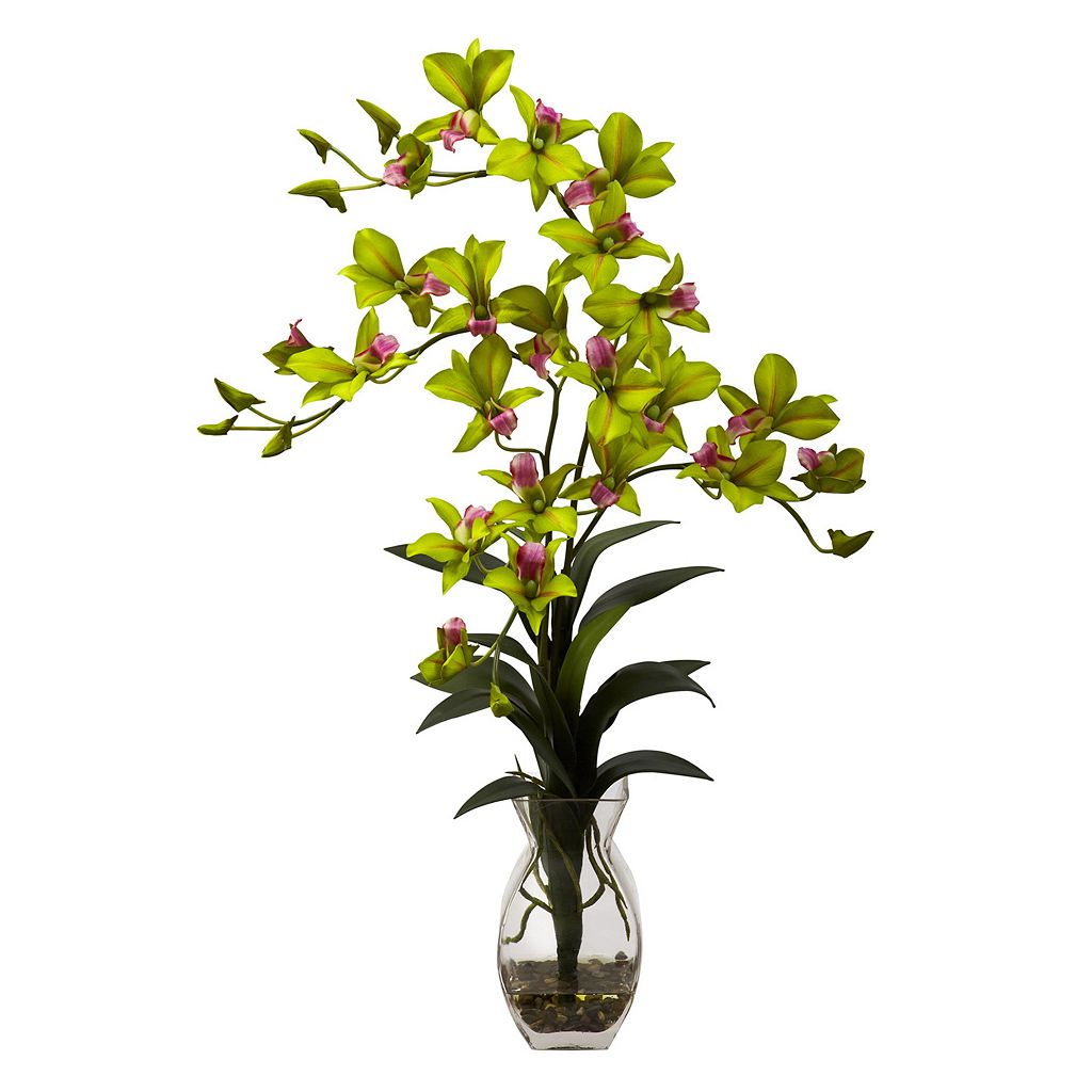 nearly natural Dendrobium Orchid Floral Arrangement