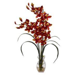 nearly natural Cymbidium Orchid Floral Arrangement
