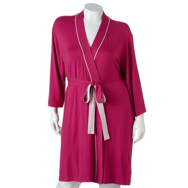Jockey Botanical Garden Wrap Robe - Women's Plus