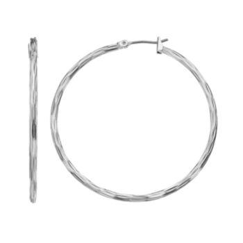 Dana Buchman Textured Hoop Earrings
