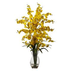 nearly natural Dancing Lady Orchid Floral Arrangement