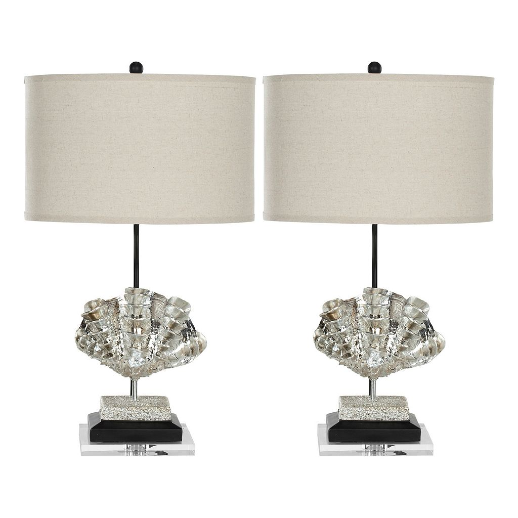 Safavieh 2-piece Metallic Shell Table Lamp Set