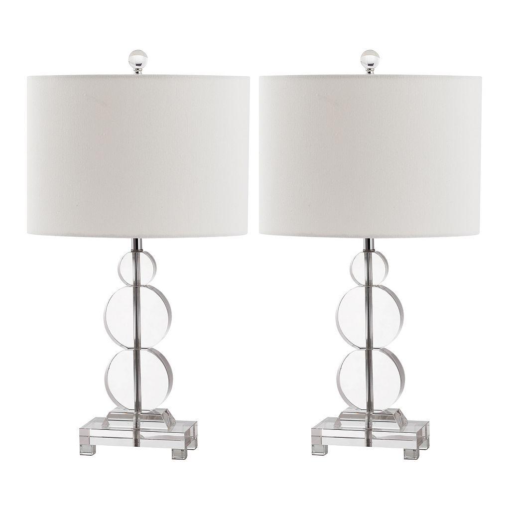 Safavieh 2-piece Moira Crystal Table Lamp Set