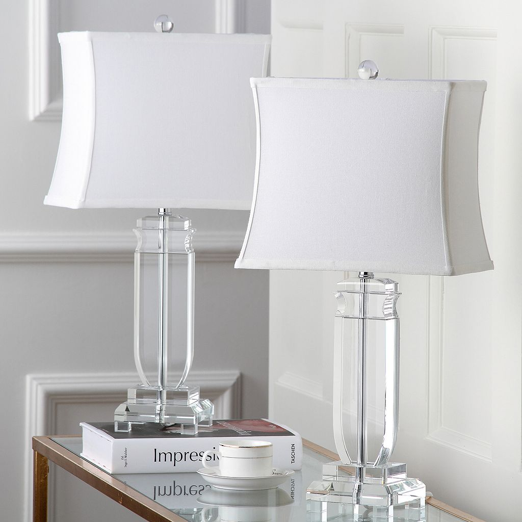 Safavieh 2-piece Olympia Crystal Table Lamp Set