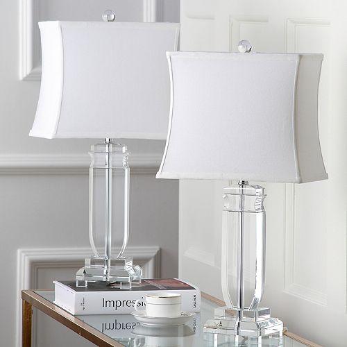Safavieh 2-piece Olympia Crystal Table Lamp Set
