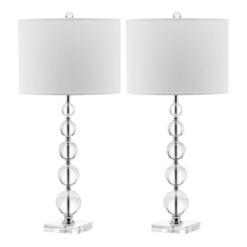 Safavieh 2-piece Liam Stacked Crystal Ball Table Lamp Set