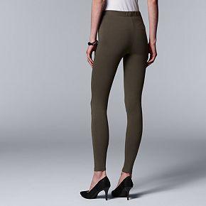 Women's Simply Vera Vera Wang Solid Leggings