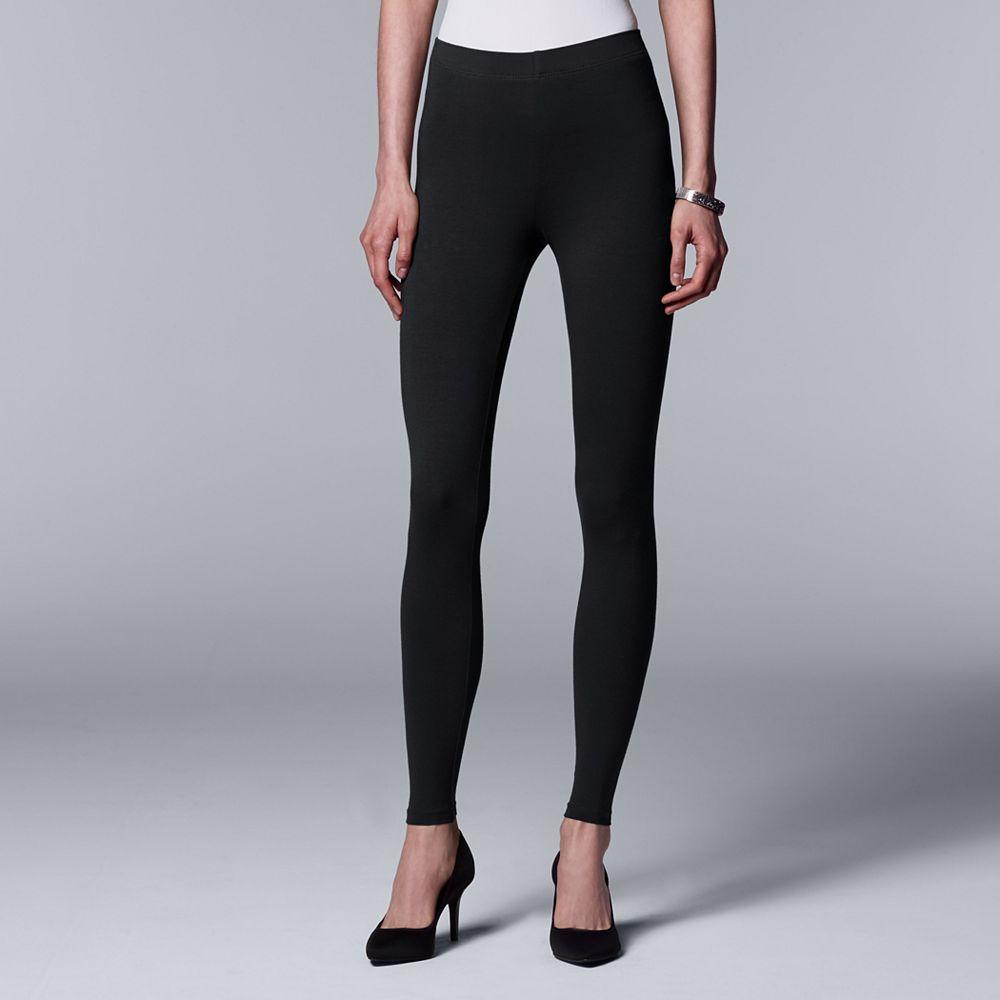18438201b0c8f Women s Simply Vera Vera Wang Solid Leggings