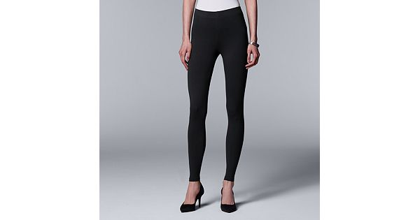 Women S Simply Vera Vera Wang Solid Leggings