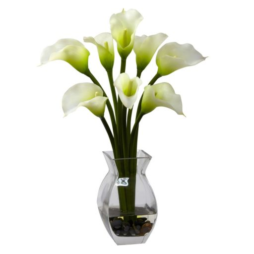 nearly natural Classic Calla Lily Floral Arrangement